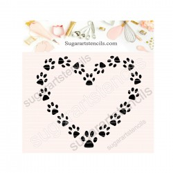 Dog paws heart cookie...