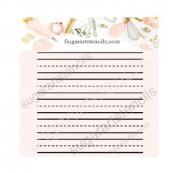 Notebook paper background...