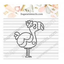 Flamingo PYO Cookie stencil...