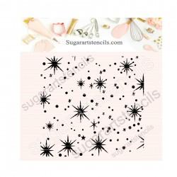 Stars background cookie...