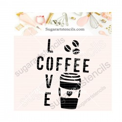 I love Coffee words quote...