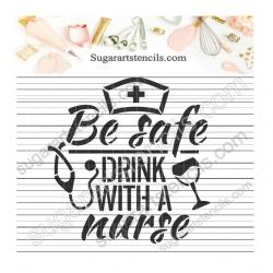 Nurse words cookie stencil...