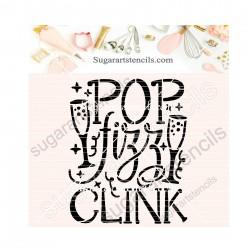 New year pop fizz clink...