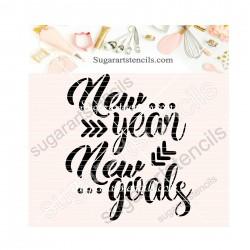 New year cookie stencil...