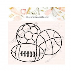 Sports balls PYO cookie...