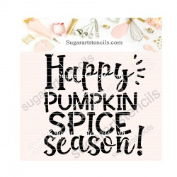 Fall cookie stencil Happy...