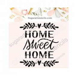 Home sweet home word cookie...