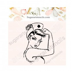 Nurse cookie stencil SA00506