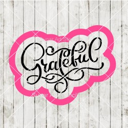 Thanksgiving word Grateful...
