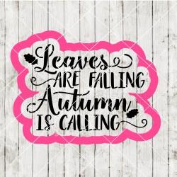 Fall Autumn cookie cutter...