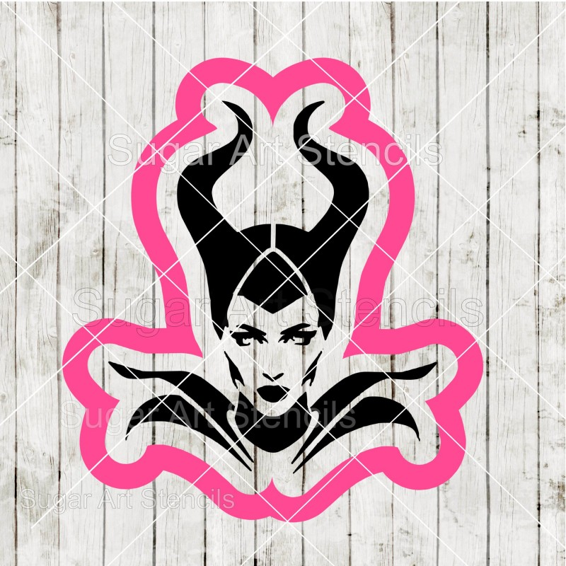 Maleficent Cookie Cutter And Matching Stencil Saj0075