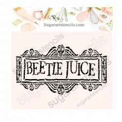 Beetle Juice cookie stencil...