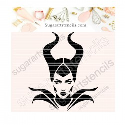 Maleficent cookie stencil...