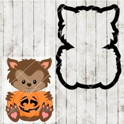 Halloween werewolf pumpkin...
