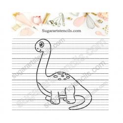 Baby dinosaur Brachiosaurus...