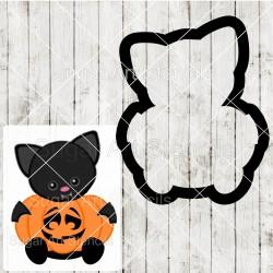 Halloween bat pumpkin sign...