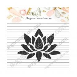 Lotus flower cookie stencil...