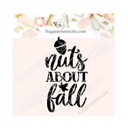 Fall words cookie stencil...
