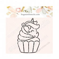 Unicorn cupcake PYO cookie...