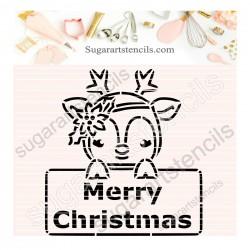 Christmas plaque reindeer...