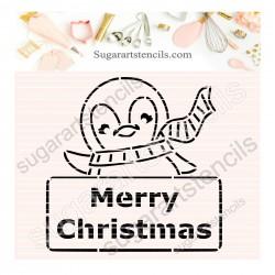Christmas plaque penguin...