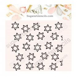 Star of David pattern...