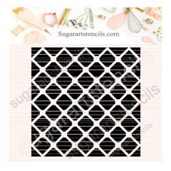 Lattice pattern background...
