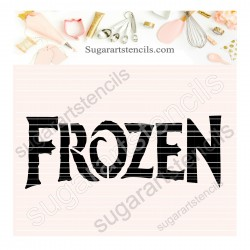 Frozen cookie stencil SAJ00307