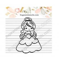 Princess PYO cookie Stencil...