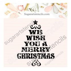 Merry Christmas tree cookie...