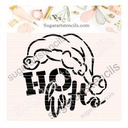 Christmas cookie stencil HO...