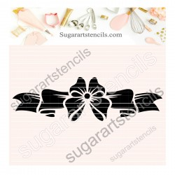 Bow cookie stencil SAJ00395