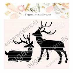 Deer cookie stencil SAJ00396