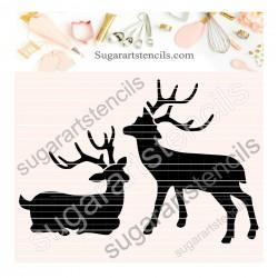 Deer cookie stencil SAJ00396