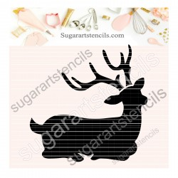 Deer cookie stencil SAJ00397