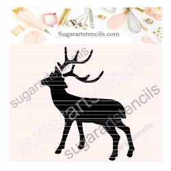 Deer cookie stencil SAJ00398