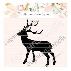 Deer cookie stencil SAJ00398