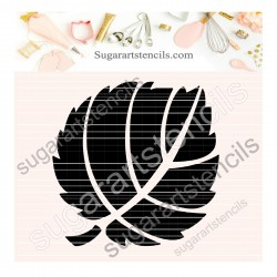 Leaf cookie stencil SAJ00437