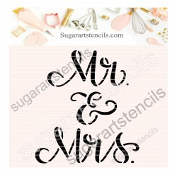 Wedding Mr & Mrs cookie...