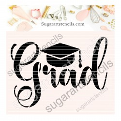 Graduation cookie stencil...