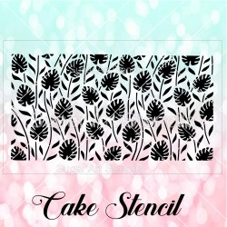 Tropical leaf pattern cake...