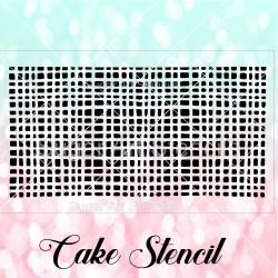 Burlap texture pattern cake...