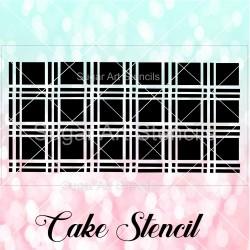 Plaid pattern cake stencil...