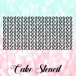Knit pattern cake stencil...