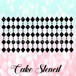 Harlequin pattern cake...