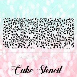 Leaf pattern cake stencil...