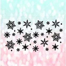 Snowflakes cake stencil CS0029