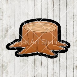 Tree stump cookie cutter CN45