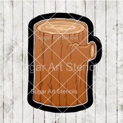 Tree stump cookie cutter CN46