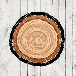 Tree stump cookie cutter CN47